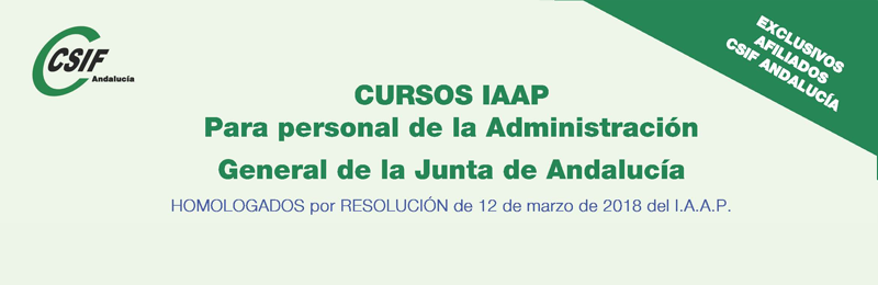 Cursos del IAAP para personal de la AGJA (2º cuatrimestre 2018)