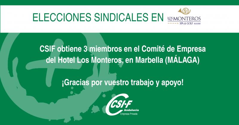 CSIF suma tres delegados sindicales en el Hotel Los Monteros de Marbella