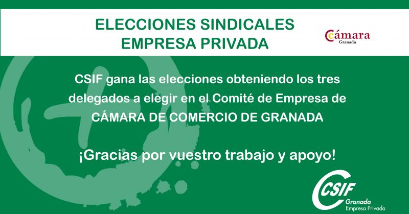 CSIF gana las elecciones en la Cámara de Comercio de Granada