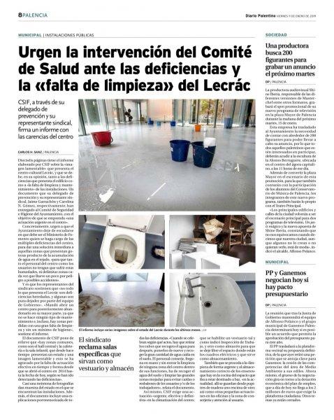 Estado del LECRAC (Diario Palentino)