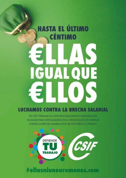 €llas igual que €llos - Día internacional de la igualdad salarial 2019