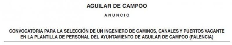 Ingeniero de caminos en el Ayuntamiento de Aguilar de Campoo