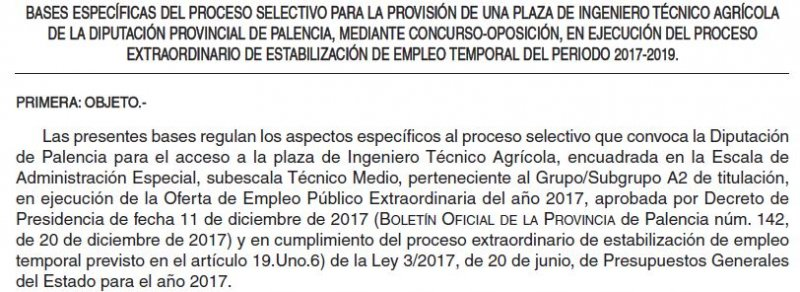 Ingeniero técnico agrícola en la Diputación de Palencia