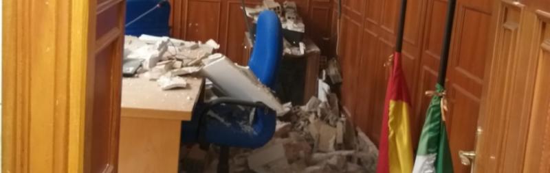 Foto de archivo 25 de agosto. Derrumbe techo en Granada