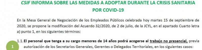 medidas a adoptar durante la crisis sanitaria por COVID-19
