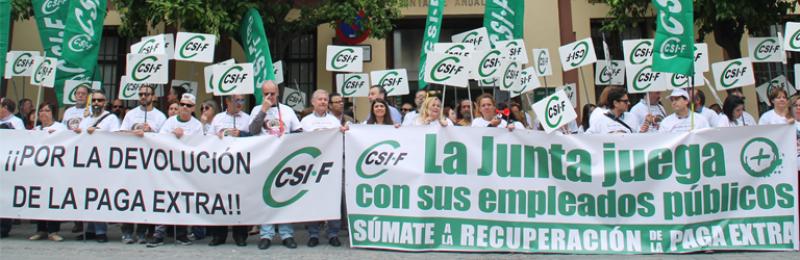 CSIF Andalucía | Movilización por la recuperación de derechos recortados