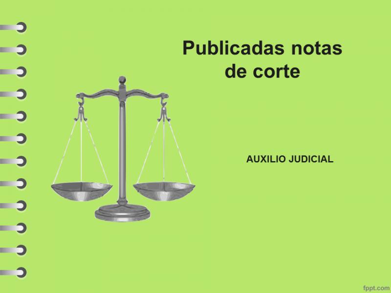notas de corte auxilio judicial