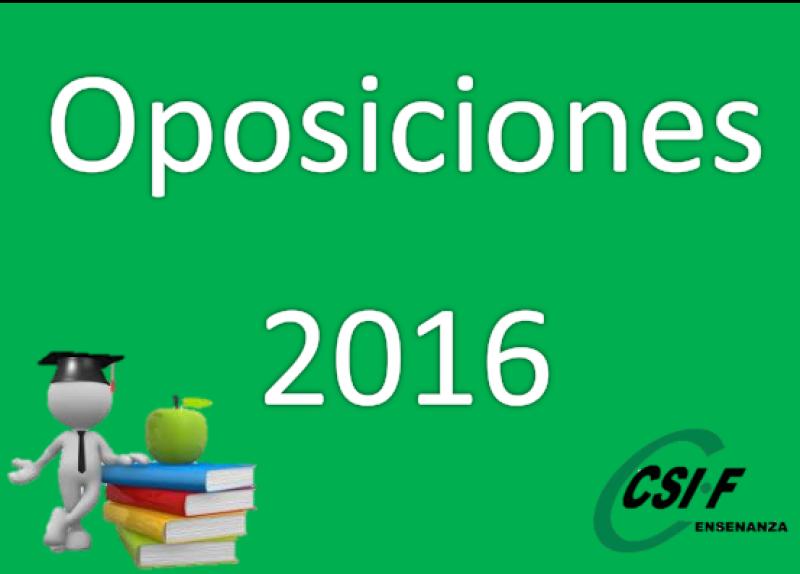 Oposiciones Maestros Aragón 2016