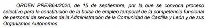 Personal de servicios en la Junta de Castilla y León