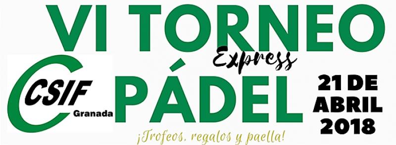 VI Torneo de Pádel CSIF Granada