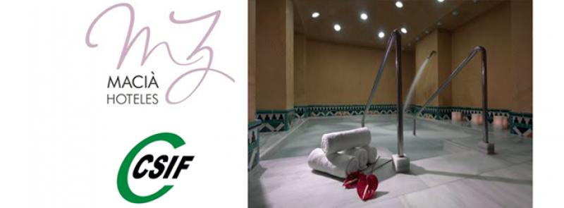 Ganador del sorteo de dos bonos de spa en HOTEL MACIÁ
