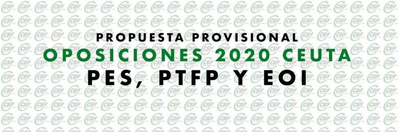 Propuesta provisional Oposiciones 2020