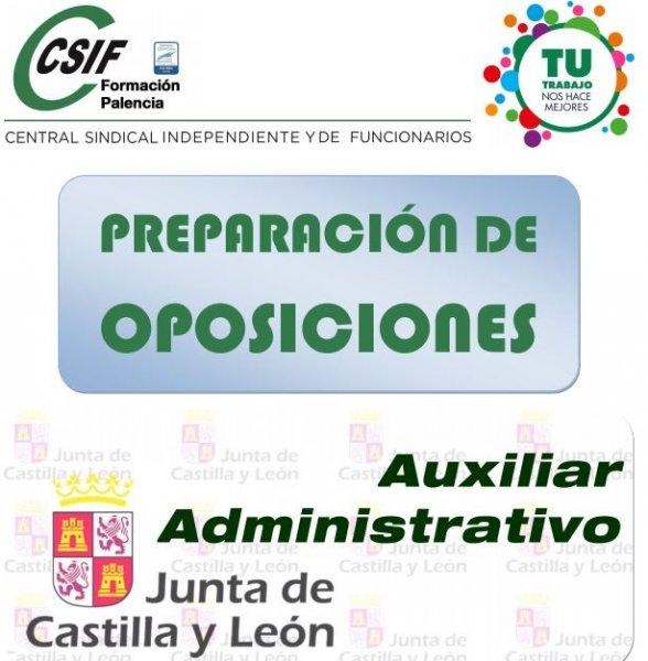 Preparación oposiciones auxiliar administrativo Junta Castilla y León