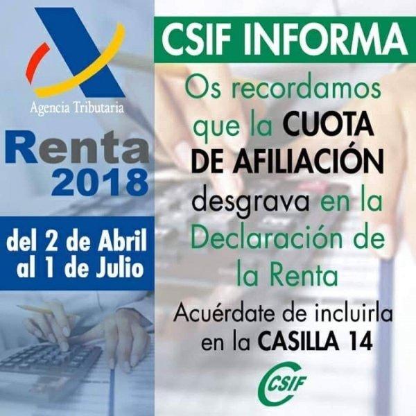 CAMPAÑA RENTA 2018