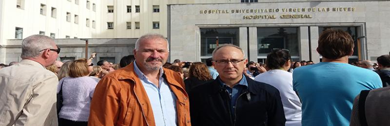 Concentración para solicitar de nuevo la reorganización sanitaria en Granada
