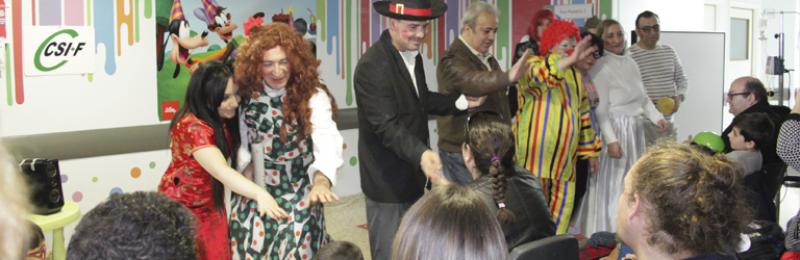 Circo Tarambana llega al Hospital Puerta del Mar de la mano de CSIF