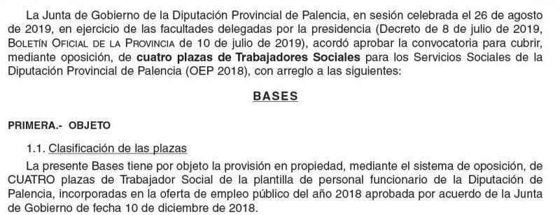 Trabajador social en la Diputación de Palencia