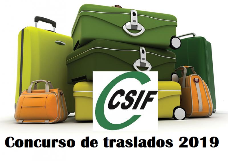 CSIF Informa - Última hora sobre el Concurso de Traslados 2019