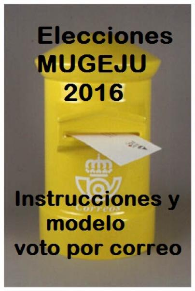 Elecciones MUGEJU 2016, INSTRUCCIONES Y MODELO VOTO POR CORRE