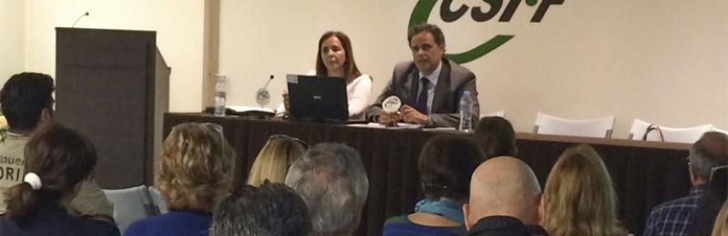 Un momento de la sesión informativa, en la sede de CSIF Málaga