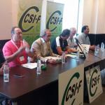 Inicio del Congreso Autonómico de Sector de Administración General del Estado en Castilla - La Mancha en el que se integraran en un solo sector los de Agencia Tributaria, Insrituciones Penitenciarias y AGE.