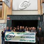 Minuto de silencio CSIF Granada 25N