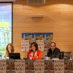 Isabel Madruga, responsable del sector autonómico de Educación de CSIF en Castilla y León; María José San Román, presidenta provincial de CSIF Valladolid; y Enrique González, responsable nacional del área de Educación en el Exterior en CSIF.
