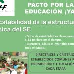 2.Estabilidad de la estructura básica del SE con directrices comunes a todo el estado garantiza la igualdad de oportunidades