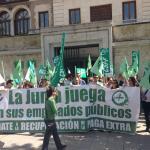 CSIF Andalucía | Movilización por la recuperación de derechos recortados en Granada