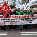 ÉXITO TOTAL DE LAS CONCENTRACIONES EN TODA ESPAÑA POR LA JUBILACIÓN ANTICIPADA DE LOS POLICIAS LOCALES y AUTONÓMICOS
