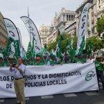 Éxito espectacular de CSIF en la manifestación por la Jubilación Anticipada de los Policías Locales y Autonómicos