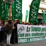 CSIF Andalucía | Movilización por la recuperación de derechos recortados en Jaén