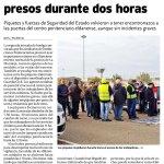 La huelga en La Moraleja retrasa las visitas a los presos durante dos horas