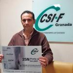Presidente CSIF Granada con el #Compromiso25N