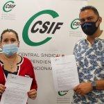 Yolanda Verdugo (Acción Social CSIF Málaga) y Karim Somay (TimIdiomas)