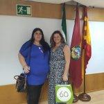 La presidenta de Las Desamparadas (izq) con la responsable de Igualdad de CSIF Cádiz, Mercedes Amézaga (dcha)