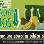 Cartel de la campaña de bajada de ratios en la Educación