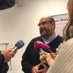 Miguel Borra atiende a los medios de comunicación