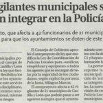 los vigilantes municipales se podrán integrar en la Policía Local (Diario Palentino)