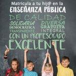 Matricula a tus hijos en la Enseñanza Pública
