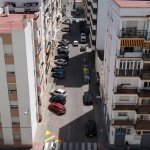 Zona naranja en torno al Hospital Puerta del Mar (foto del día 3 de julio, a las 11.30h)