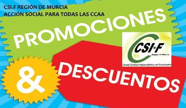 CSI.F Murcia, ofrece a nuestros afiliados, descuentos y ofertas. Acción Social 2016