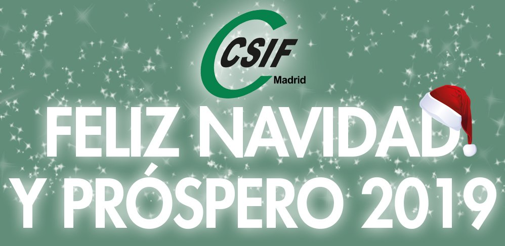 CSIF Madrid os desea Feliz Navidad