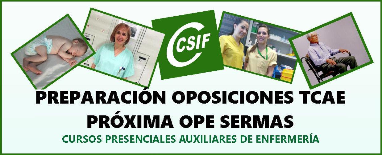 CSIF Formación TCAE - OPE SERMAS
