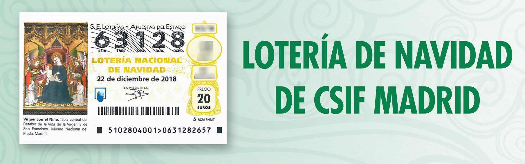 Lotería de Navidad 2018 de CSIF Madrid