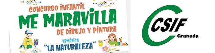 """Concurso infantil de dibujo """"Me Maravilla"""" CSIF Granada"""