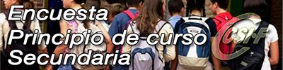 Encuesta Principio de Curso 2017-2018 (Secundaria, FP y ERE)