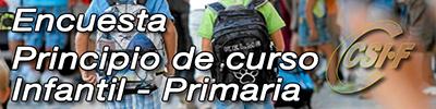Encuesta Principio de Curso 2017-18 -- Infantil y Primaria
