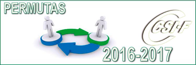 Permutas de Interinos para el curso 2016-2017
