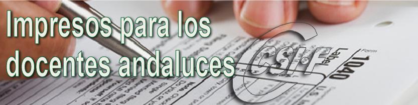 Impresos para los docentes Andaluces
